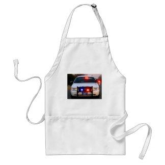 POLICE CAR - all lit up Standard Apron