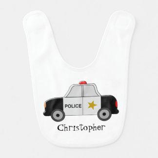 Police Car Just Add Name Bib