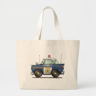 Police Car Law Enforcement Jumbo Tote Bag