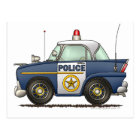Police Car Law Enforcement Postcard