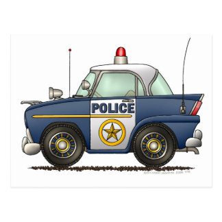 Police Car Law Enforcement Postcard