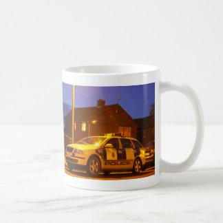 police car mug