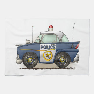 Police Car Police Crusier Cop Car Kitchen Towel
