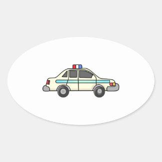 POLICE CAR OVAL STICKER
