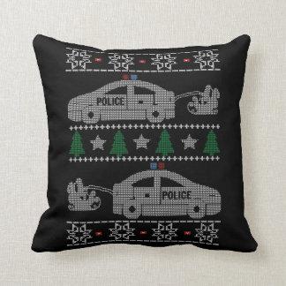POLICE CHRISTMAS THROW PILLOW