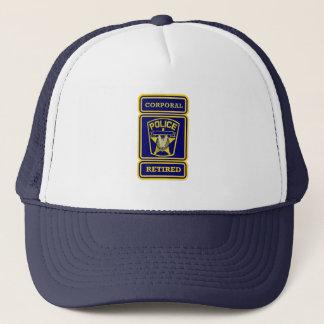 Police Corporal Retired Badge Trucker Hat