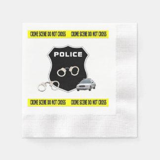 Police Crime Scene Paper Napkin