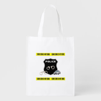 Police Crime Scene Reusable Grocery Bags
