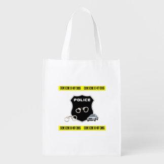 Police Crime Scene Reusable Grocery Bags
