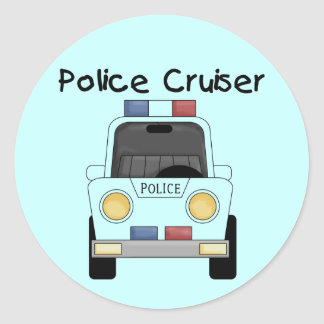 Police Cruiser Tshirts and Gifts Classic Round Sticker