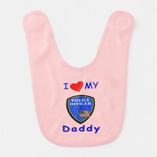 Police Daddy Bib