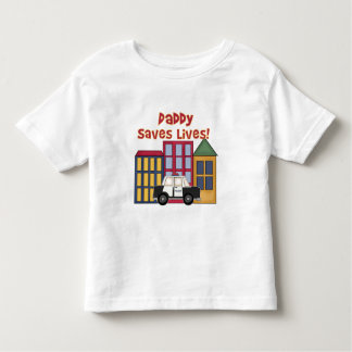 Police Daddy Saves Lives Tee Shirt