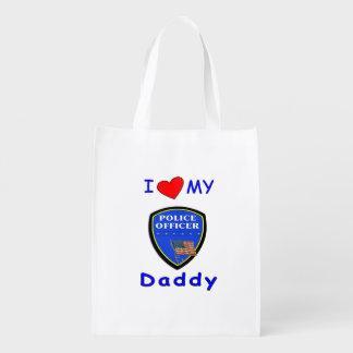 Police Dads Reusable Grocery Bag