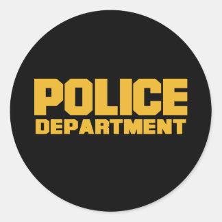Police Department Classic Round Sticker