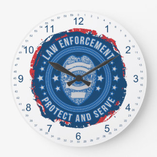 Police Department Seal of Safety Large Clock