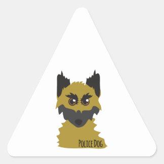 Police Dog Triangle Stickers