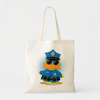 Police Duck Budget Tote Bag
