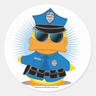 Police Duck Classic Round Sticker