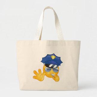 police emoji jumbo tote bag