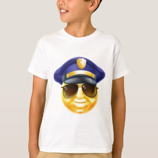 Police Emoji Emoticon T-Shirt