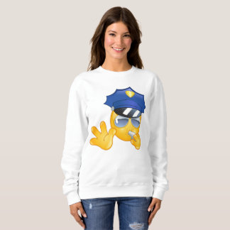 police emoji womens sweatshirt