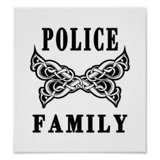 Police Family Tattoos Poster
