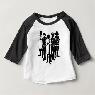 Police Fire Doctor Emergency Team Silhouettes Baby T-Shirt