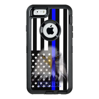 Police Flag | Faded Eagle OtterBox Defender iPhone Case