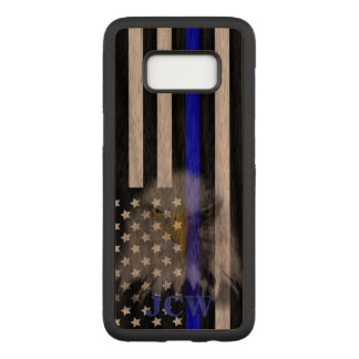 Police Flag   Faded Eagle   Personalized Carved Samsung Galaxy S8 Case