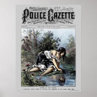 Police Gazette poster Insane Woods