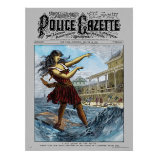 Police Gazette poster Sandwich Island Girl (color)