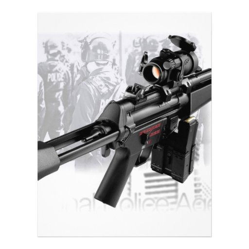 Police Gun Customized Letterhead