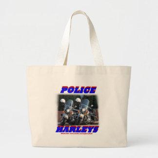Police Harleys Jumbo Tote Bag