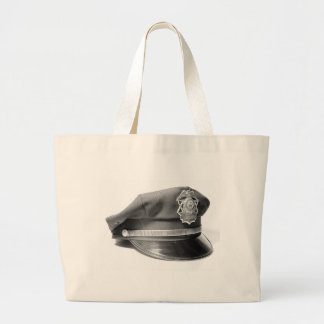 Police Hat Tote Bags