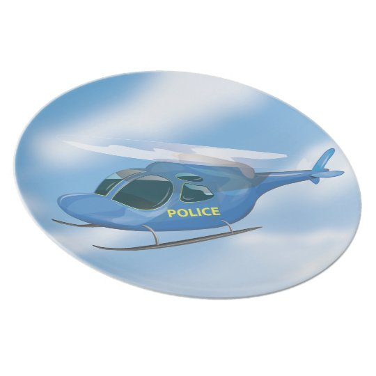 Police Helicopter Plate