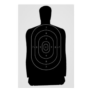 Police Human Target Poster