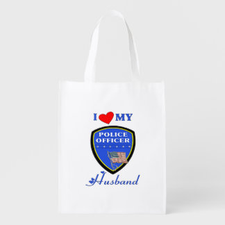 Police Husband Grocery Bags
