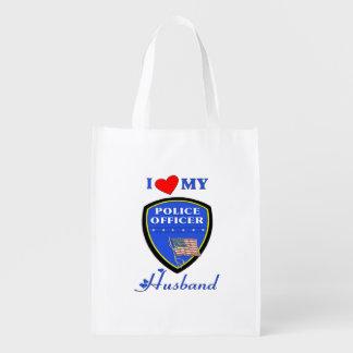Police Husband Market Tote