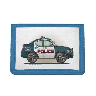 Police Interceptor Car Cop Car Tri-fold Wallets
