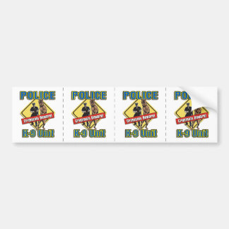 Police K9 Criminals Beware Bumper Sticker