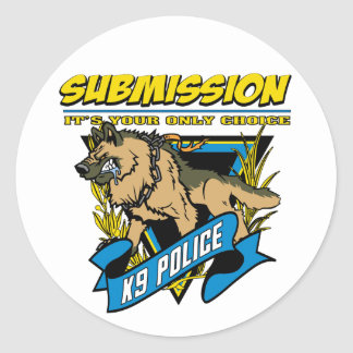 Police K9 Submission Stickers