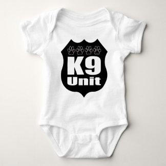 Police K9 Unit Black Badge Dog Paws Baby Bodysuit