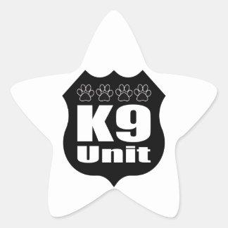 Police K9 Unit Black Badge Dog Paws Star Sticker