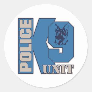 Police K9 Unit Dog Round Sticker