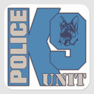 Police K9 Unit Dog Square Sticker