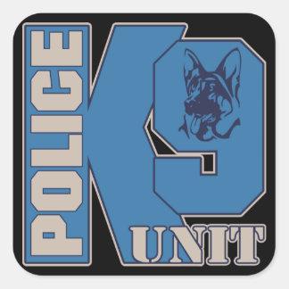 Police K9 Unit Dog Square Sticker