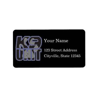 Police K9 Unit Paw Print Label