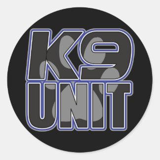 Police K9 Unit Paw Print Round Sticker