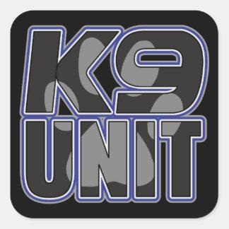 Police K9 Unit Paw Print Square Sticker