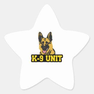 POLICE K9 UNIT STAR STICKER